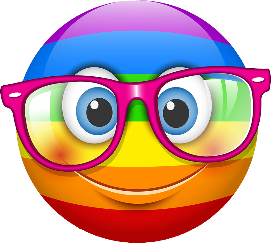 Smileys stickers by pallavi. Clipart rainbow smiley face