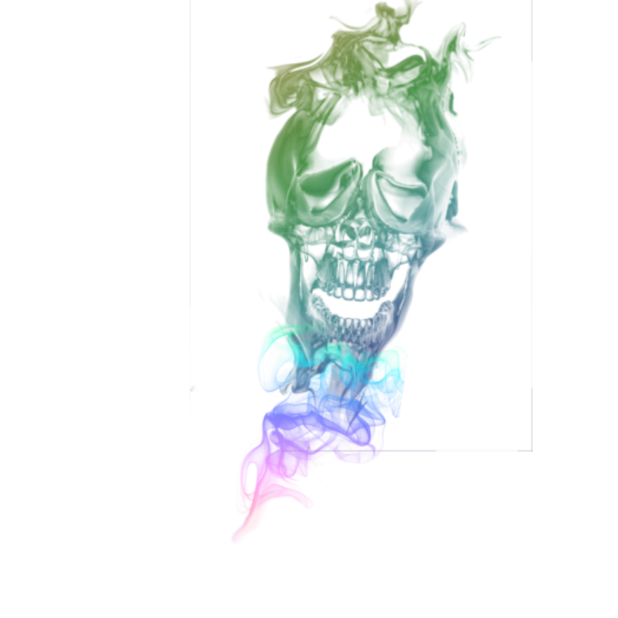 Rainbow smoke png. Skull transparant by cakkocem