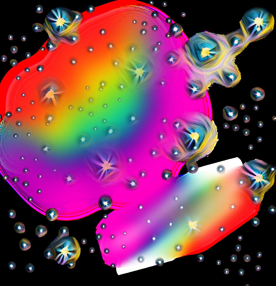 Ftestickers picsart stickers. Clipart rainbow sparkle