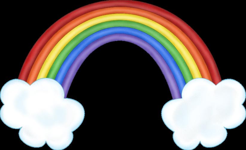 Pics of cartoon rainbows. Glitter clipart rainbow