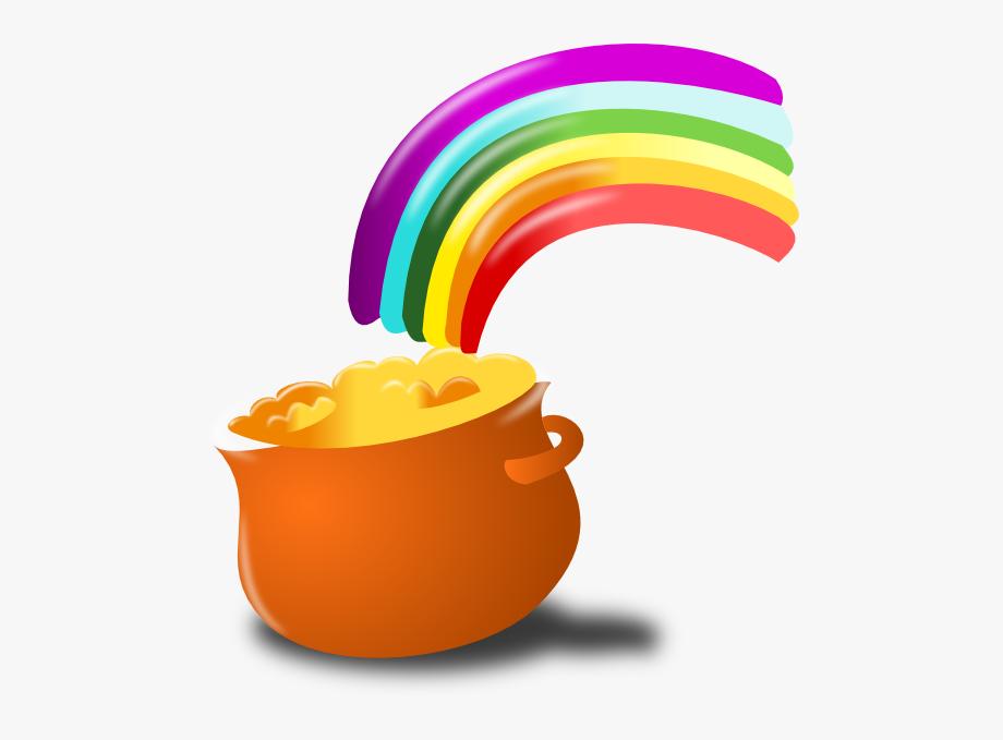 Gold end clip art. Clipart rainbow st patricks