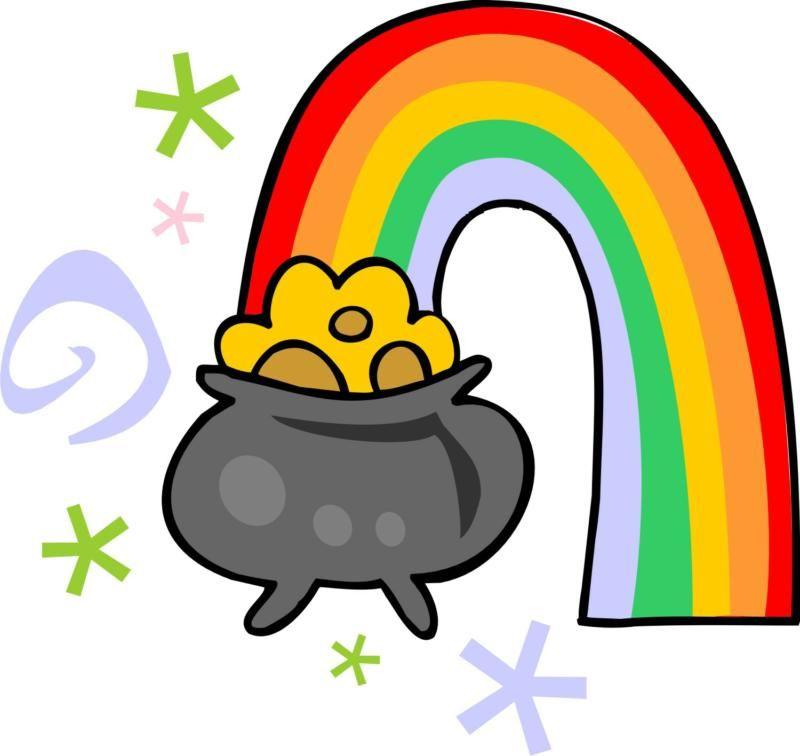 Clipart rainbow st patricks. Day clip art for