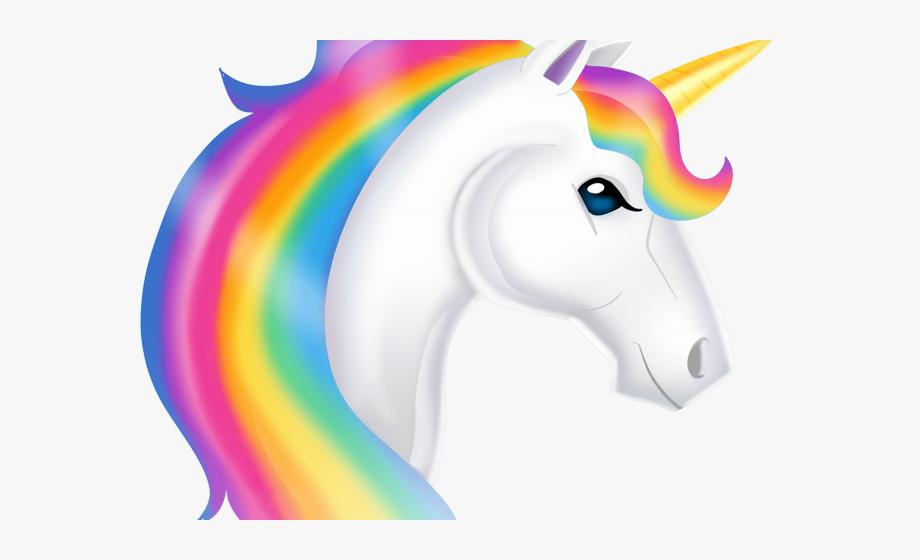 Head rainbow . Clipart unicorn fictional
