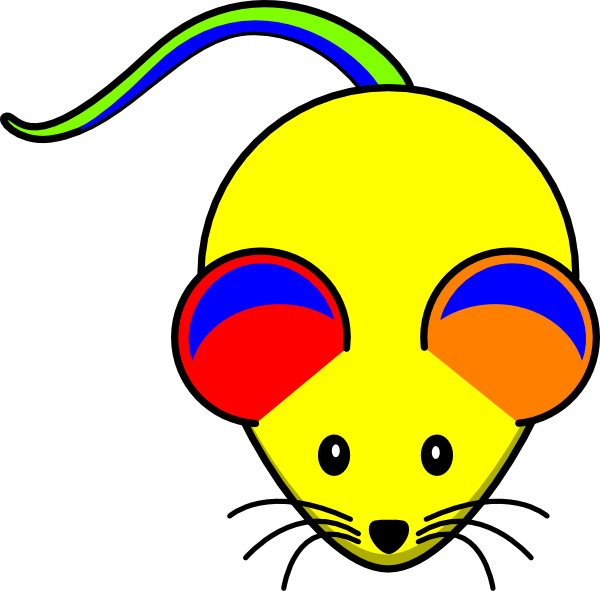 Mouse clip art at. Clipart rainbow vector