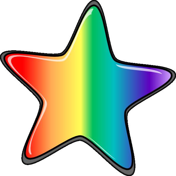 Star edited clip art. Clipart rainbow vector