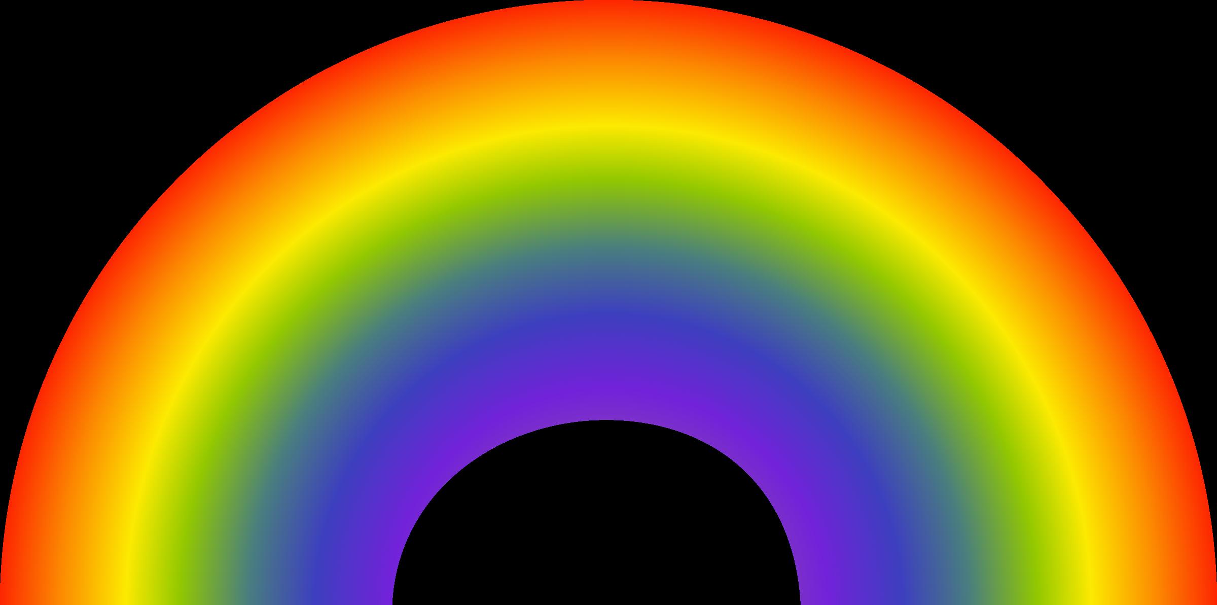 Clipart rainbow vector.