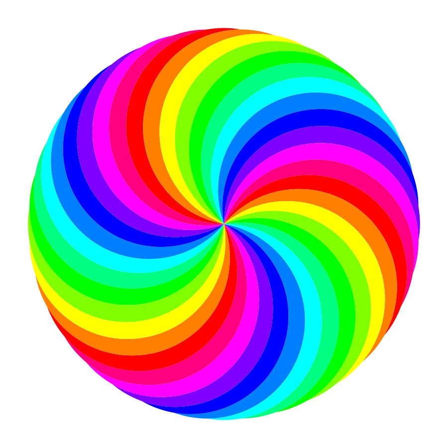 Color clipart printable. Rainbow swirl