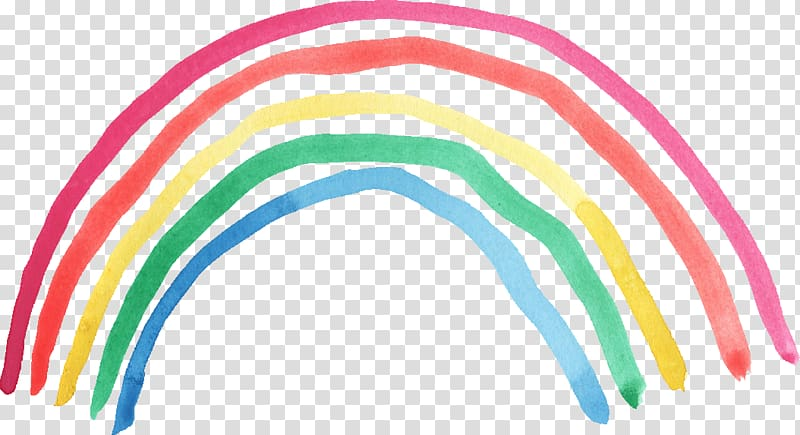 Clipart rainbow watercolor. Illustration painting