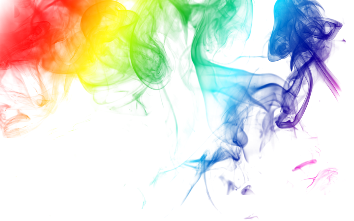 Clipart rainbow watercolor. Smoky smoke colors blend