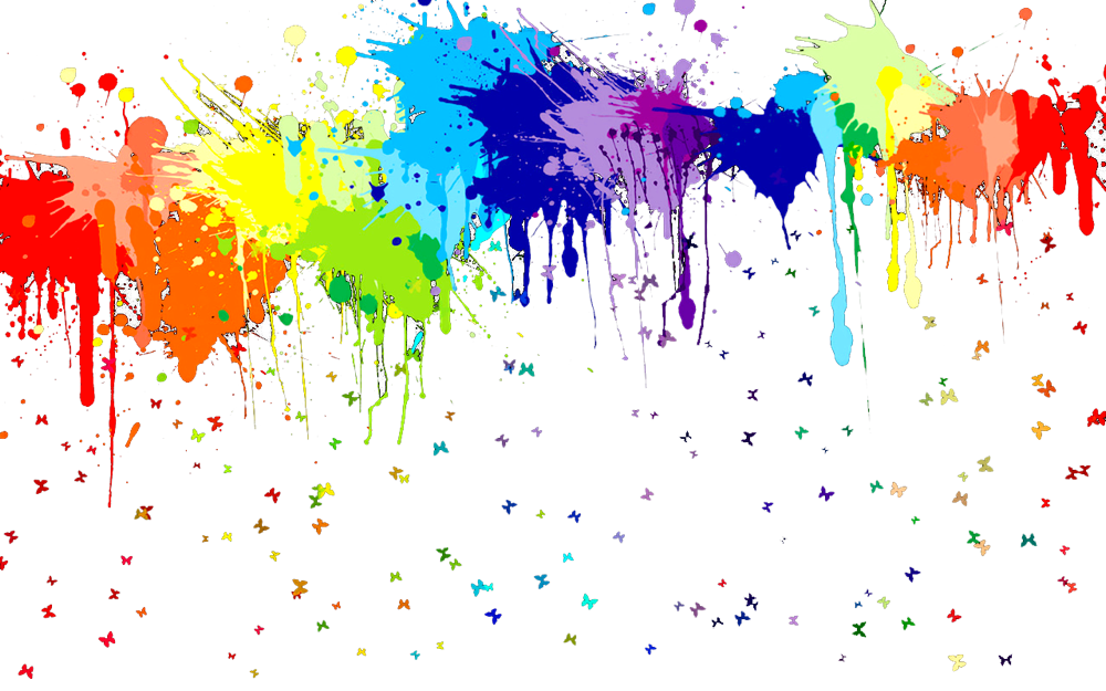 Splash paint splatter