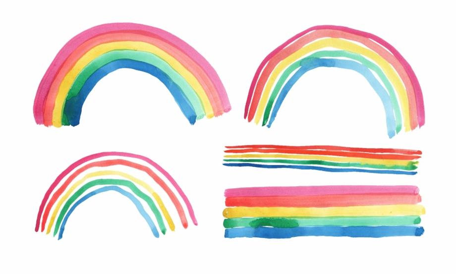 Transparent clip art free. Clipart rainbow watercolor