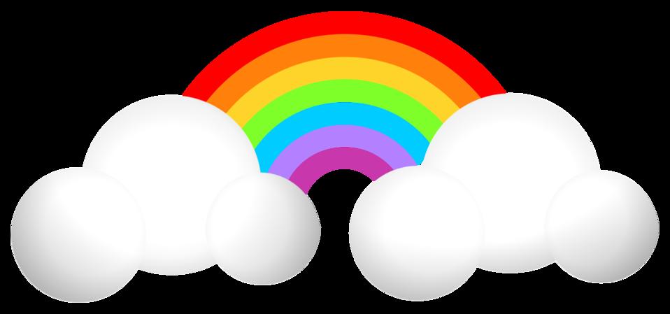 Public domain clip art. Clipart rainbow weather