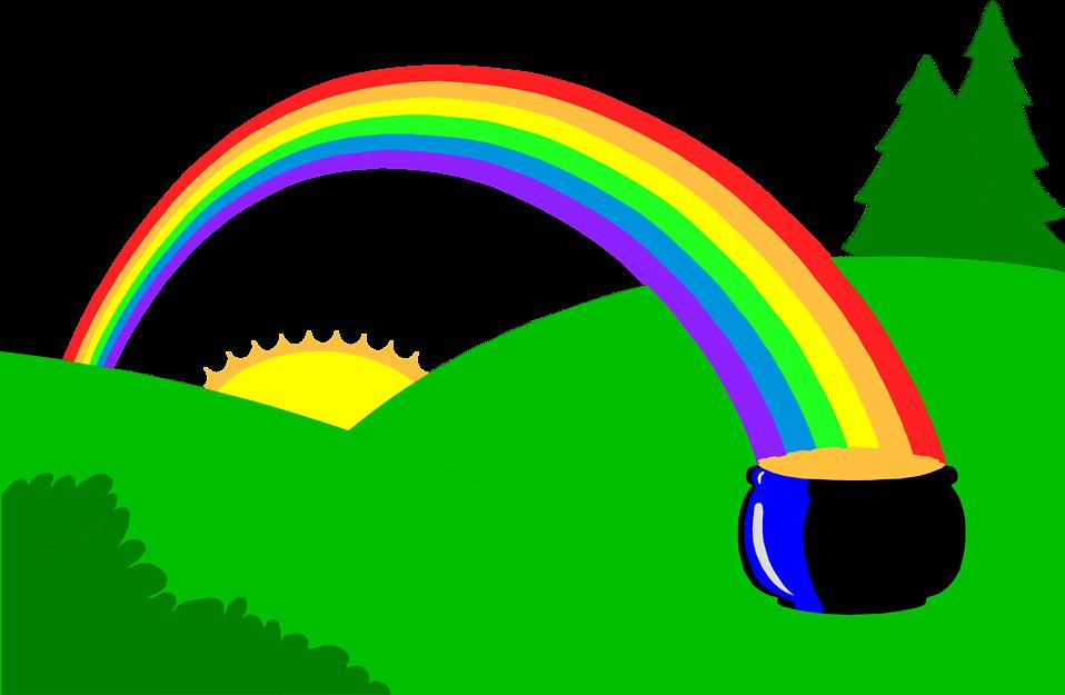 Free stock photo illustration. Clipart rainbow weather