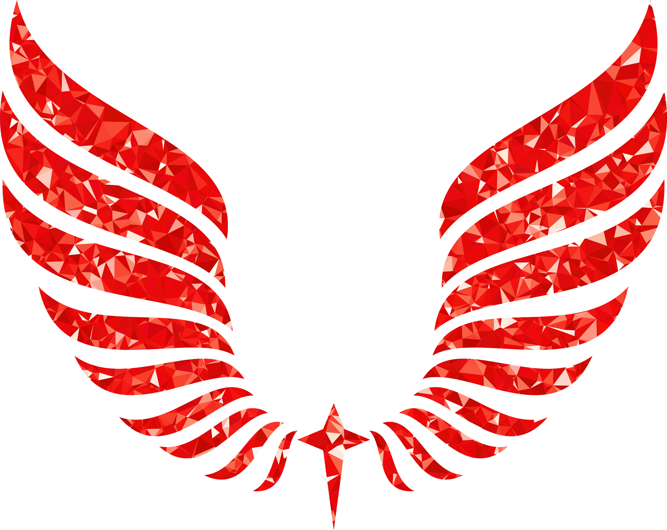 Ruby wings big image. Wing clipart abstract