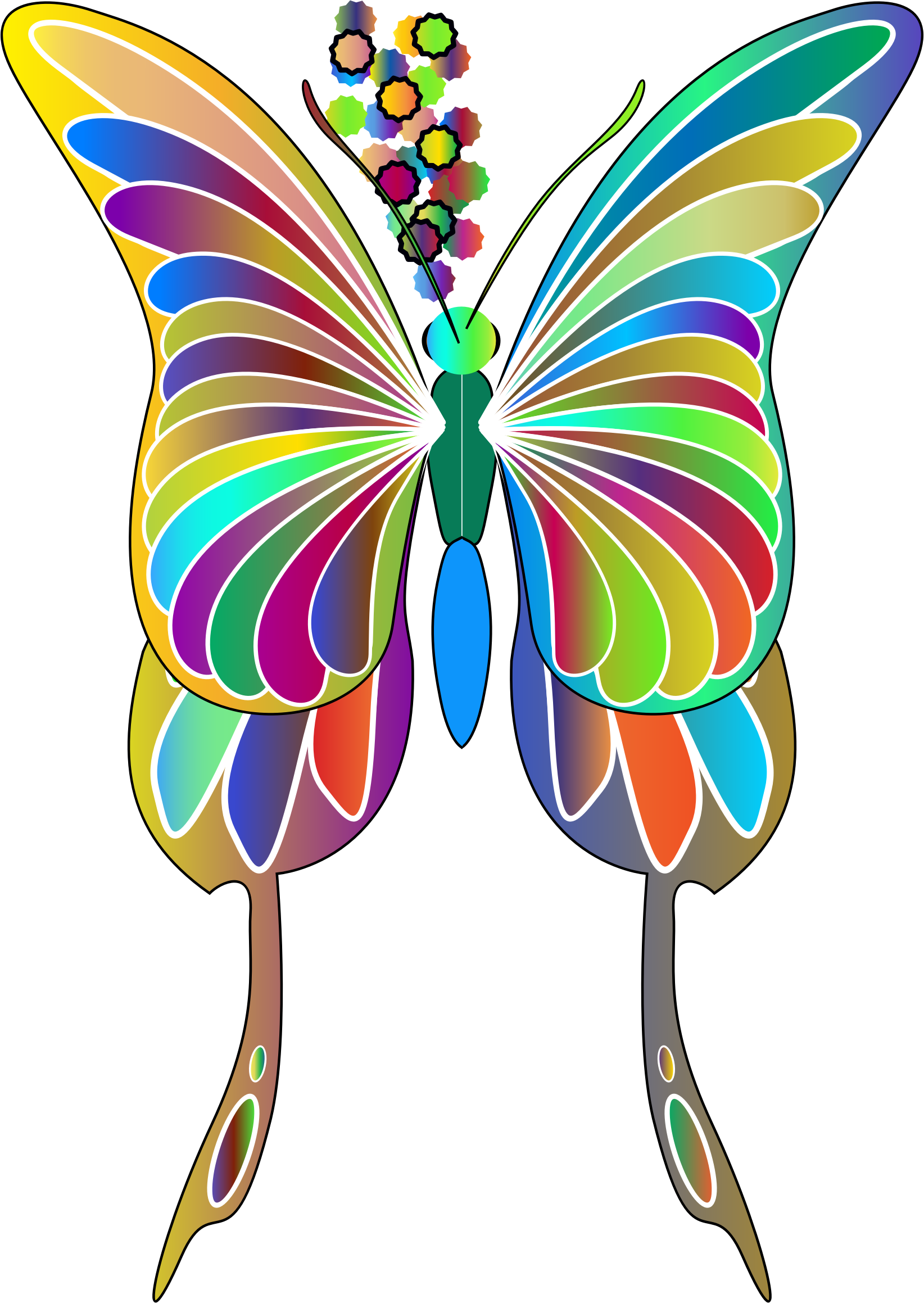Insect clipart colorful flying butterfly. Swallowtail prismatic big image
