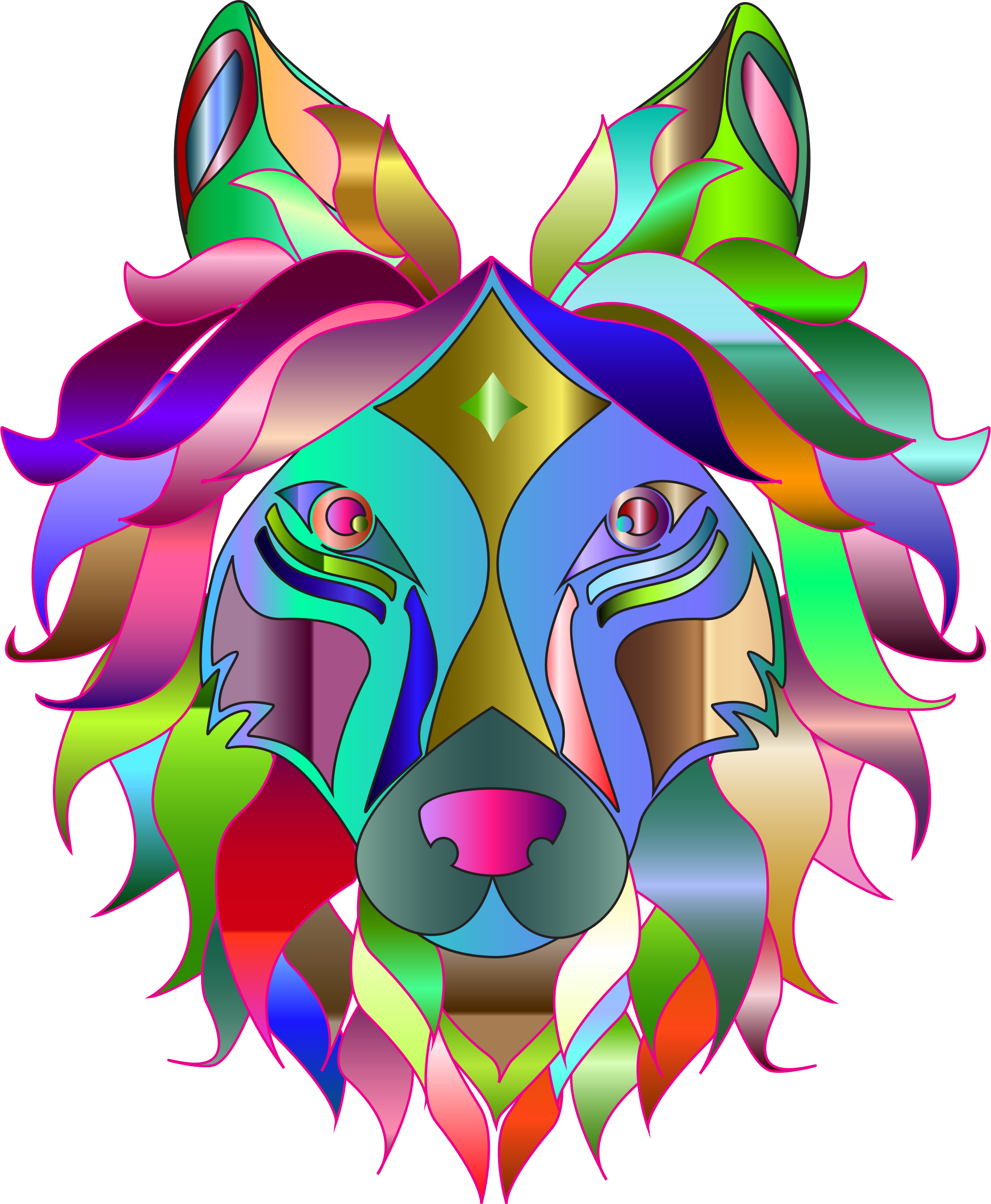 Clipart rainbow wolf. Chromatic big image png