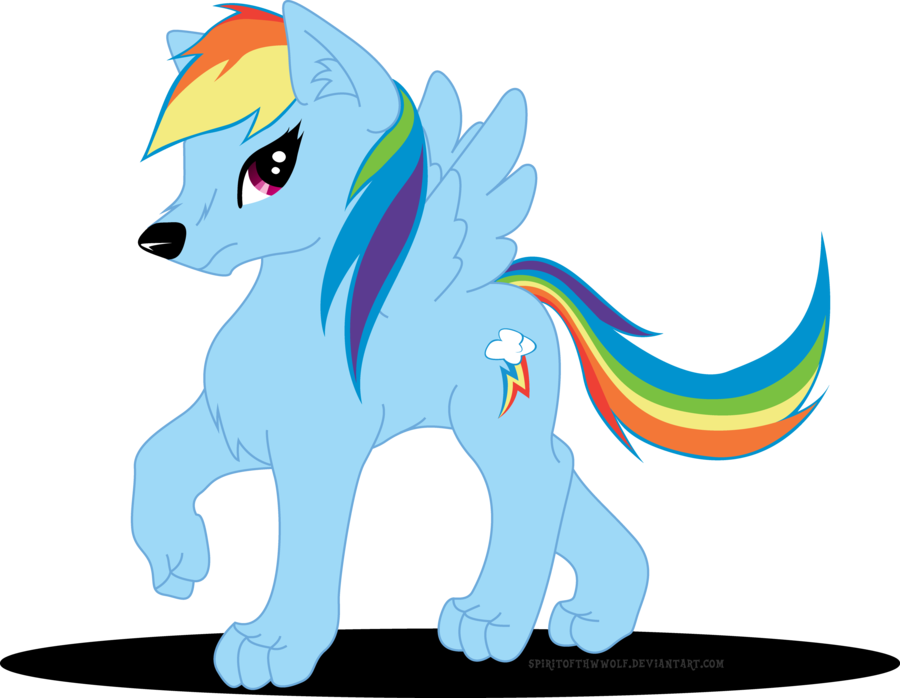 Clipart rainbow wolf. Post random fim art
