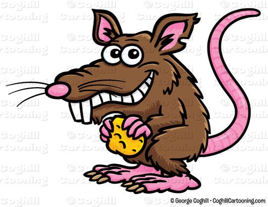 Clipart rat. Cartoon clip art stock