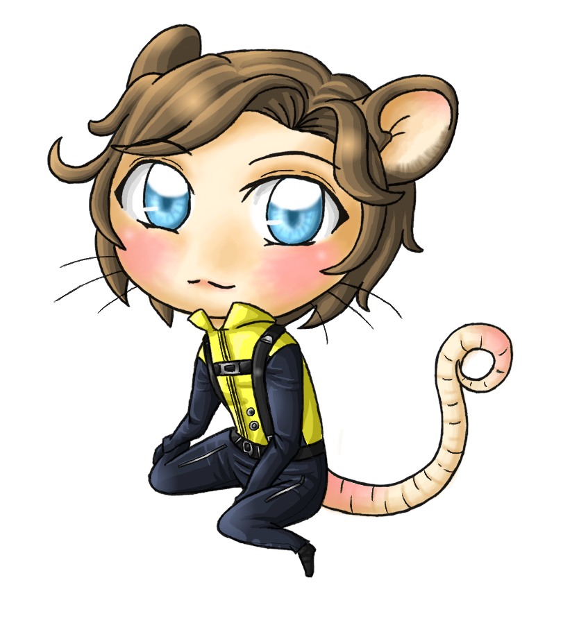 Adorable by ocelot girl. Clipart rat anime lab