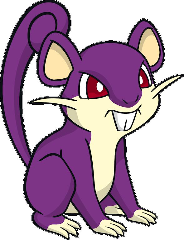 Clipart rat anime lab. Ratta gabe s pokemon