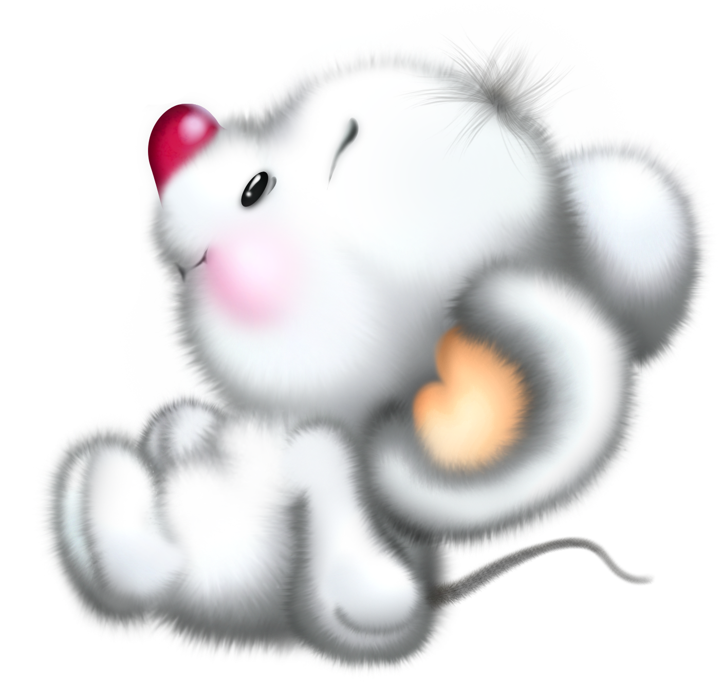 Cute illustrations white mouse. Hurt clipart cartoon