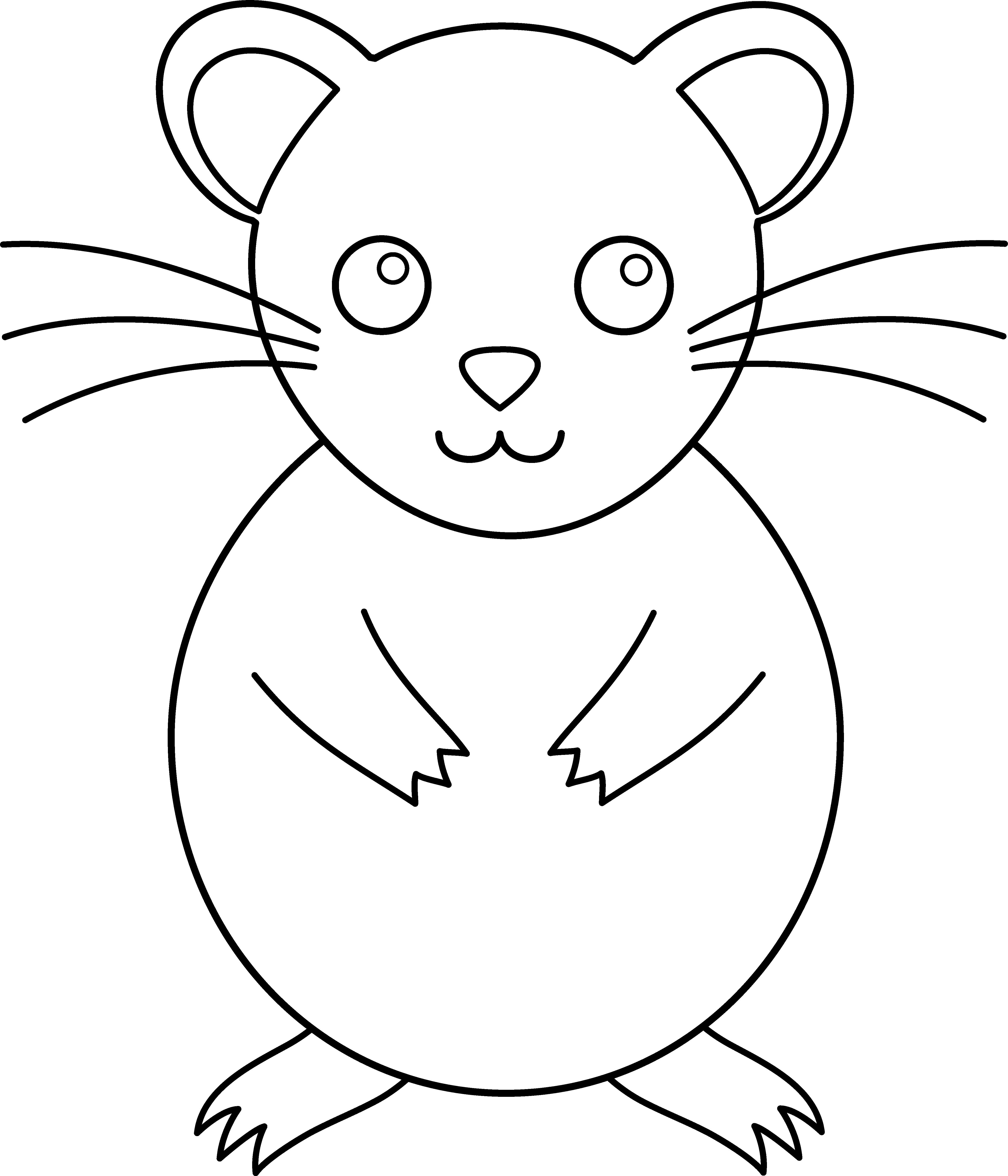 Cute colorable free clip. Hamster clipart hamster food