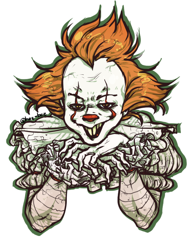 Pin by c balt. Clown clipart pennywise
