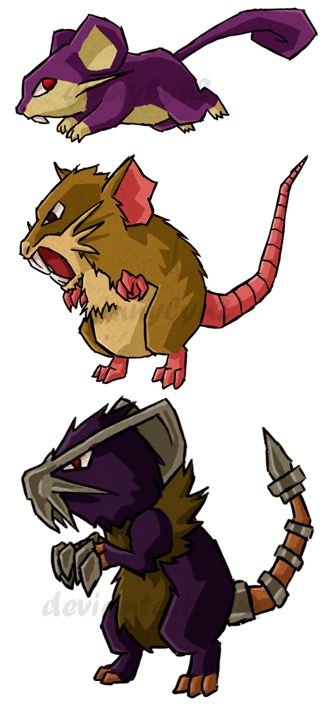 Pokemon rats wws by. Clipart rat female rat