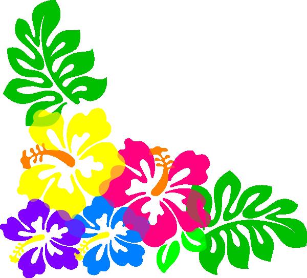 Luau clip art black. Clipart rat flower