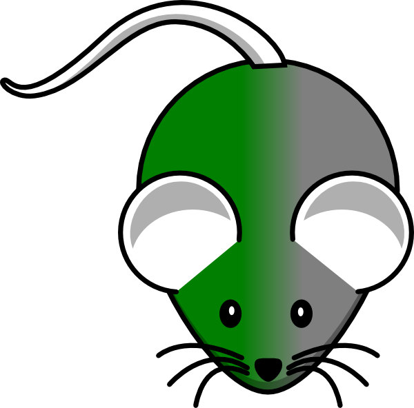 Green gray clip art. Mouse clipart simple