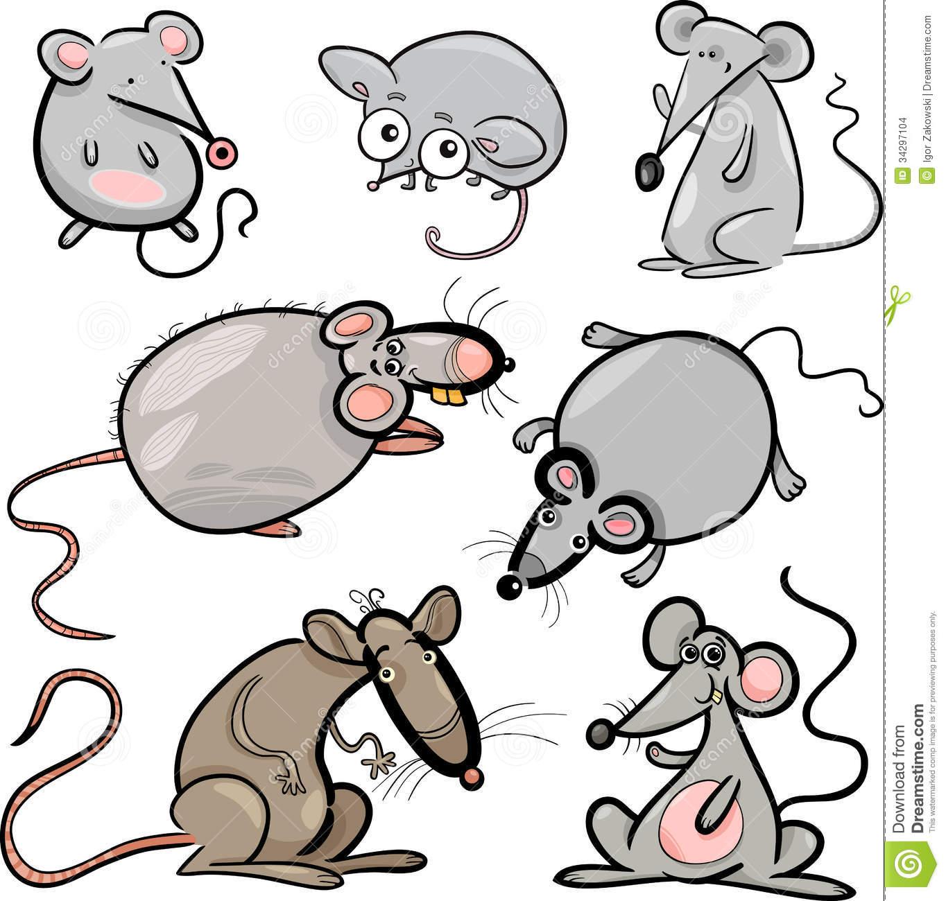 Rat clipart group rat. Mice and rats set