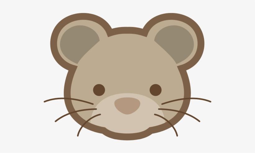 Brown marsupial snout mouse. Clipart rat head cartoon