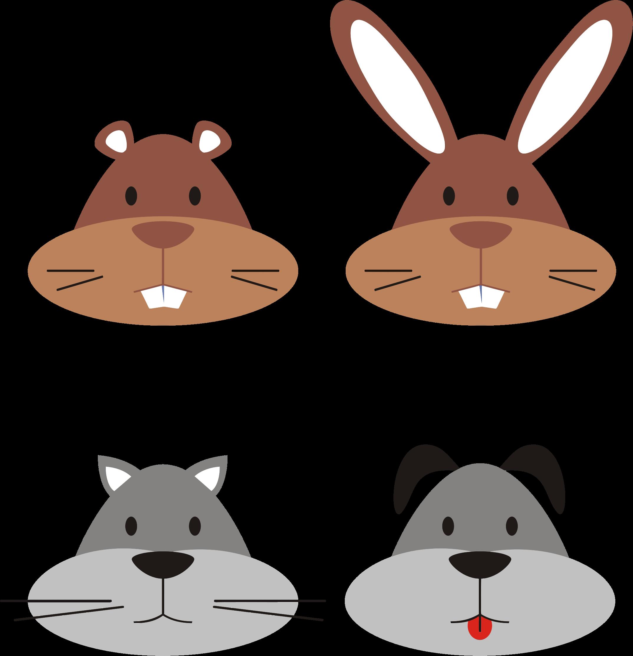 Animal heads big image. Clipart rat head cartoon