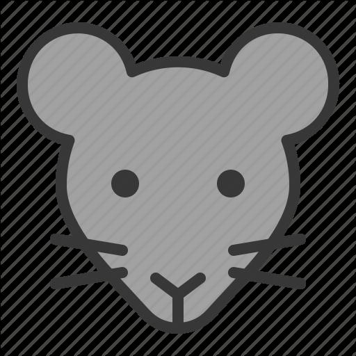 cute animal face. Clipart rat head cartoon