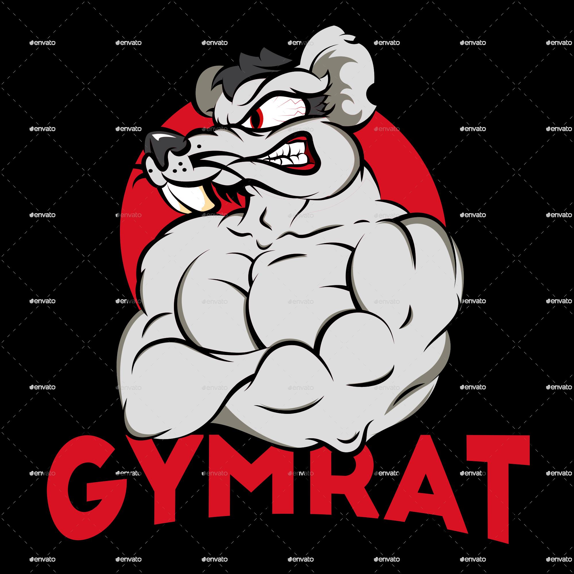 Clipart rat jpeg. Gymrat by medallica graphicriver