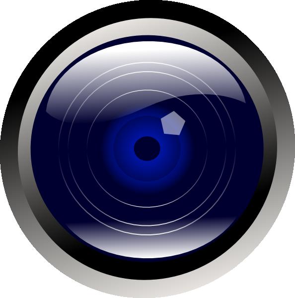 Blue camera lens outline. Clipart rat mad