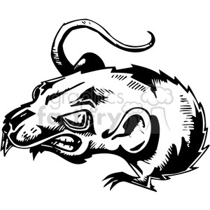 Clipart rat mad. Royalty free