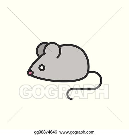 Mice clipart colour. Vector rat or mouse