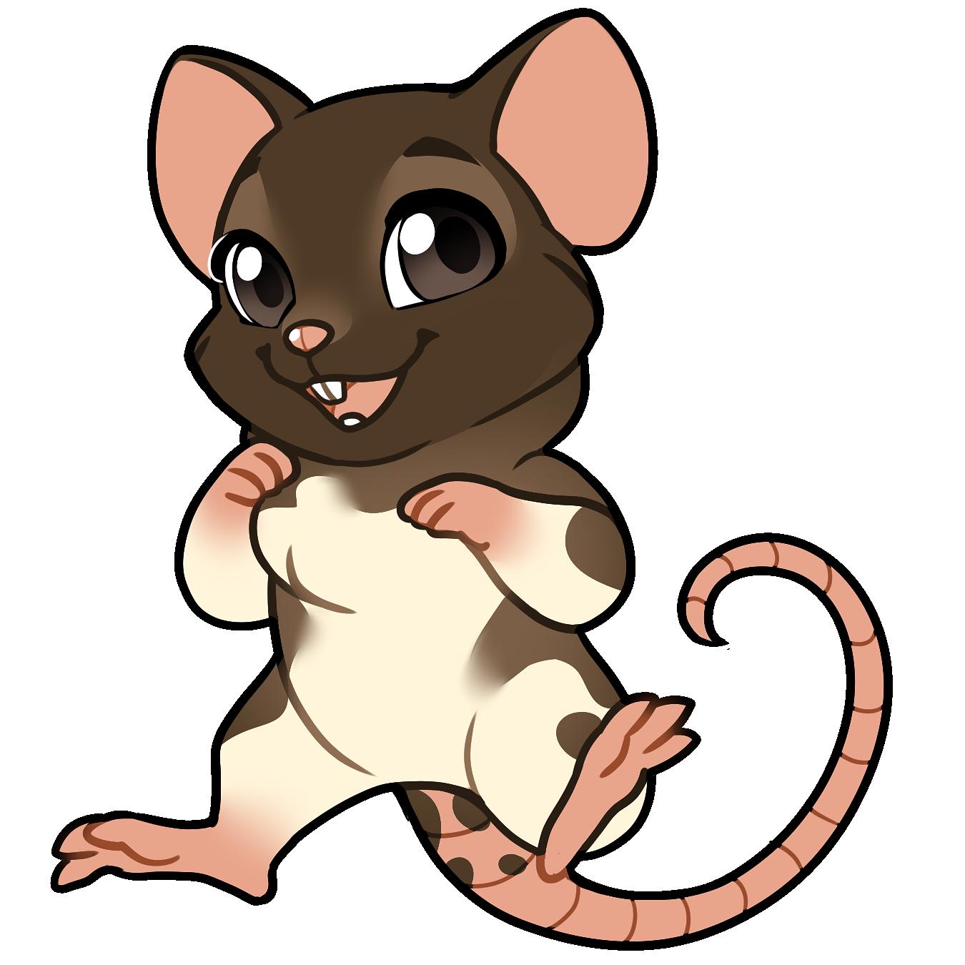 Clipart rat rat tail. Furvilla sticker online store