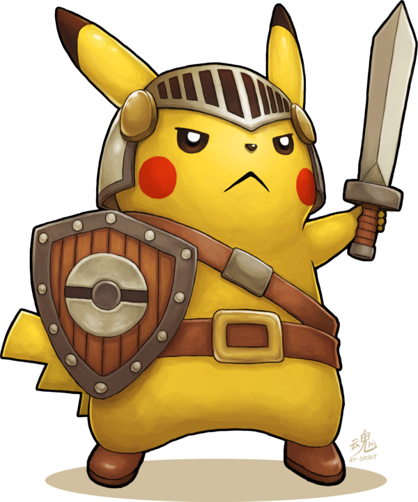 What other pikachu dress. Warrior clipart armour shield