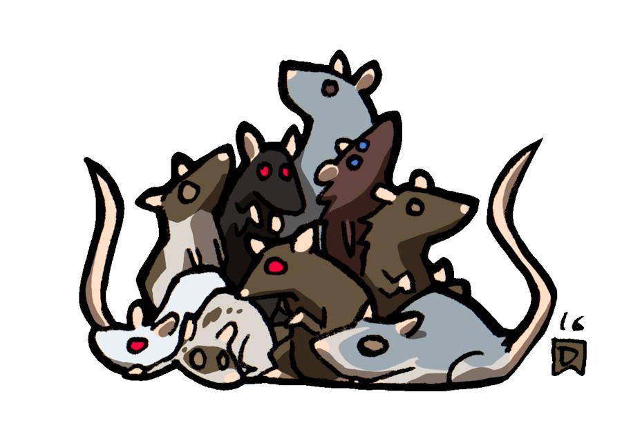 D minins swarm of. Clipart rat sad rat