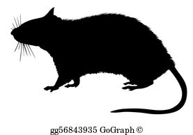 Clip art royalty free. Clipart rat silhouette