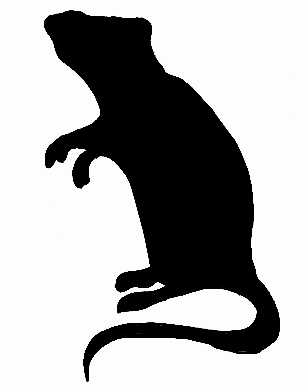 Free download clip art. Clipart rat silhouette