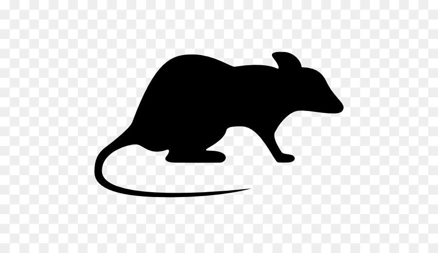 Clipart rat silhouette. Cat mouse black