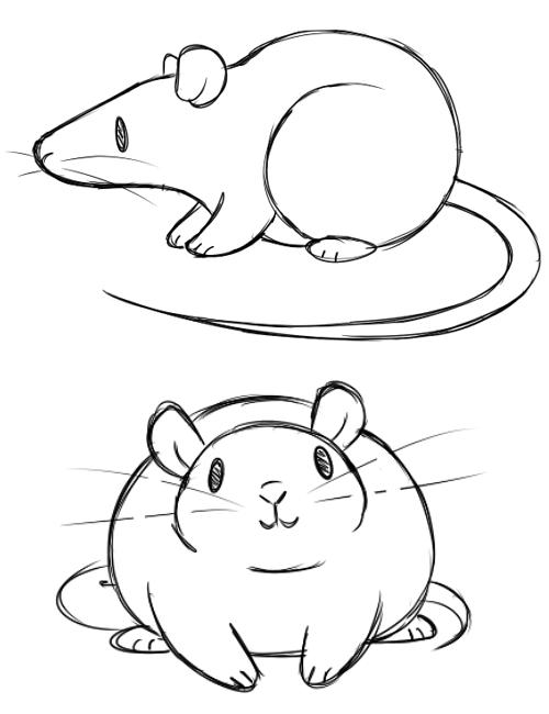 Clipart rat simple. Free drawn download clip