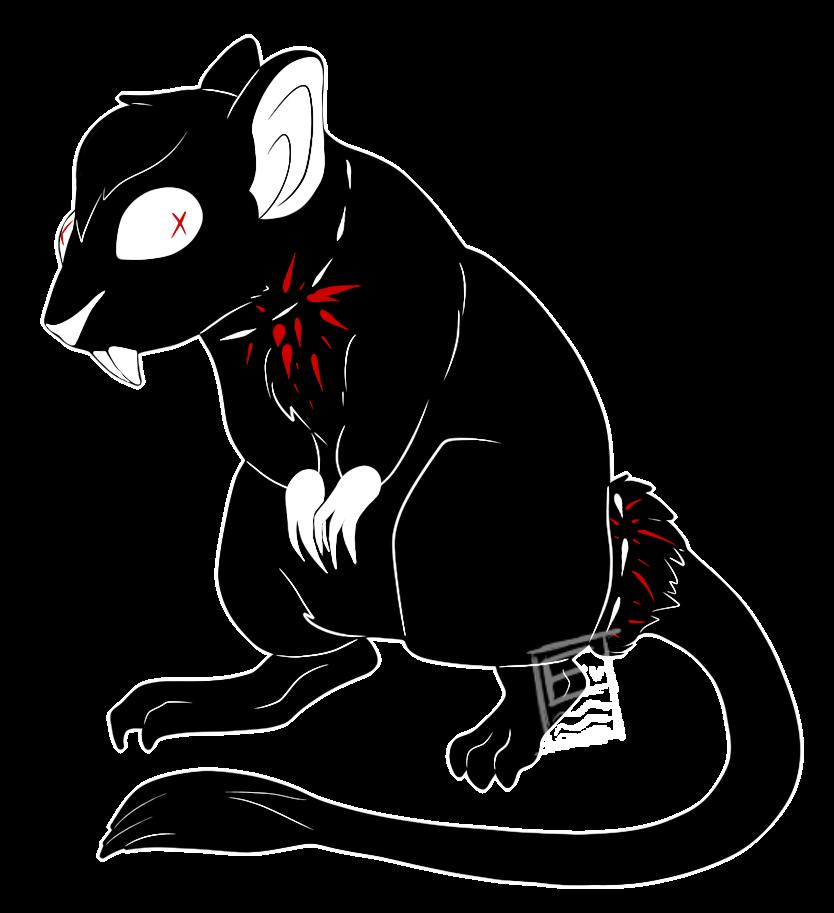 Jittery gerbil custom by. Clipart rat spooky