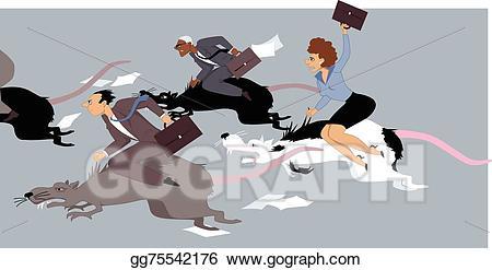 Vector race illustration gg. Clipart rat stressed