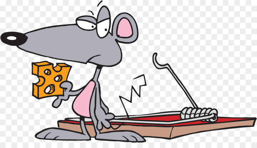 Rat clipart trap. Cartoon mouse transparent clip