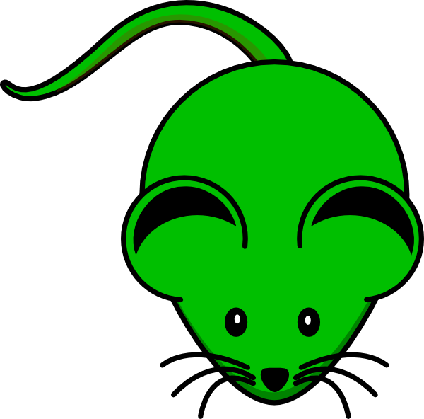 Picture clipart green. Mouse clip art at