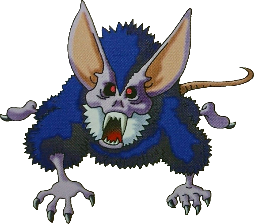 Zombie clipart rat. Vampire dragon quest wiki
